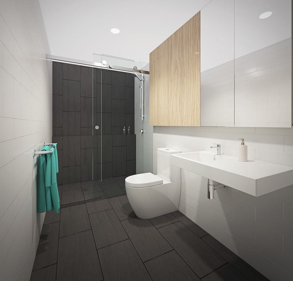 Wynnum Rd Unit 2C Bathroom - Final